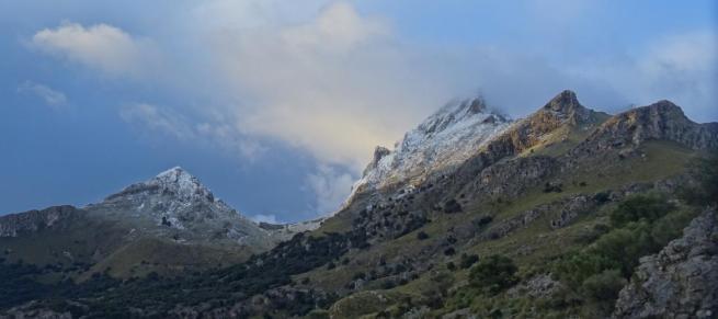 In der Serra de Tramuntana fiel der erste Schnee des Jahres.