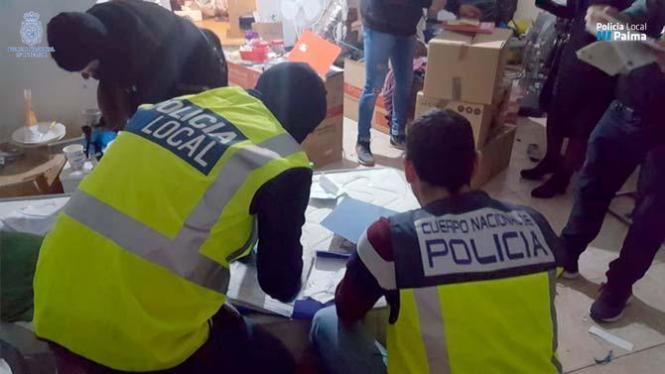 Die Polizei in Palma nahm drei Tatverdächtige fest.