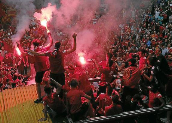 Fans von Real Mallorca in Vor-Coronazeiten.