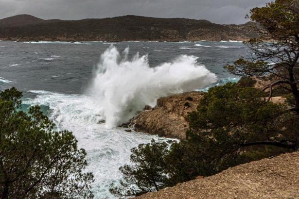 Bei stürmischem Wetter sollte man die Küste lieber meiden.