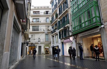 Blick in eine Straße von Palma.