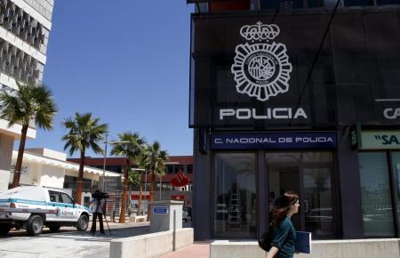 Blick auf die Polizeiwache des Gewerbeparks Son Castelló.