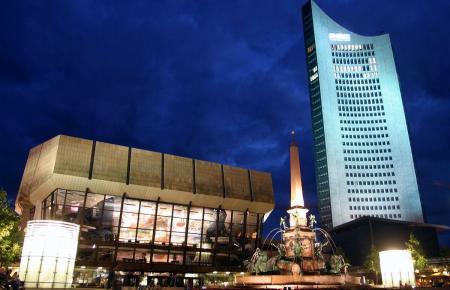 Das Zentrum von Leipzig.