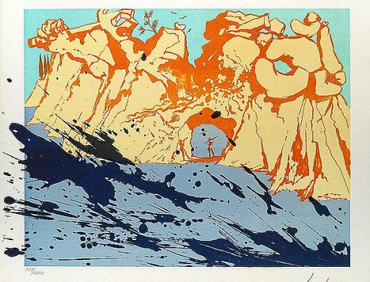 """Dalís Werk """"Costa Brava"""" aus dem Jahr 1971."""