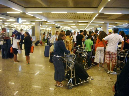 Blick in das Innere des Mallorca-Flughafens.