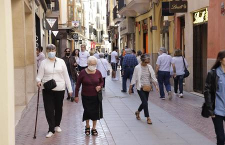 Blick in die Einkaufsstraße Sant Miquel.