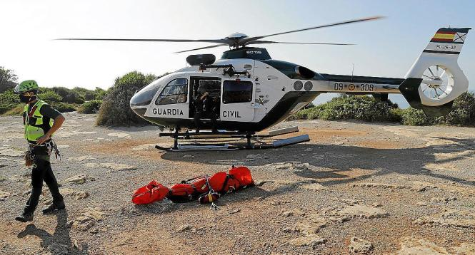 "Der Rettungshelikopter ""Cuco"" der Guardia Civil."