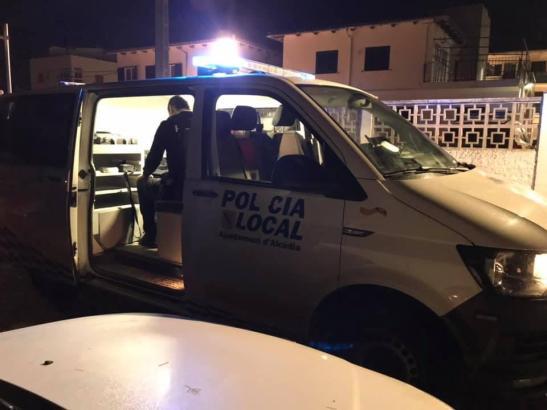 Polizist im Einsatz auf Mallorca.