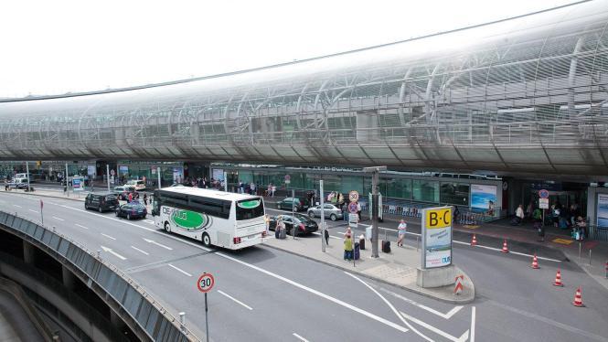 Blick auf den Flughafen Düsseldorf