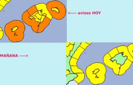 Auf Mallorca gilt Warnstufe Gelb.