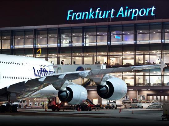 Blick auf den Flughafen Frankfurt/Main.
