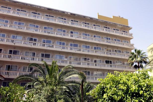 Blick auf das Hotel.