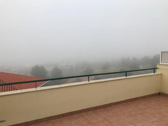 Nebel so weit das Auge reicht.