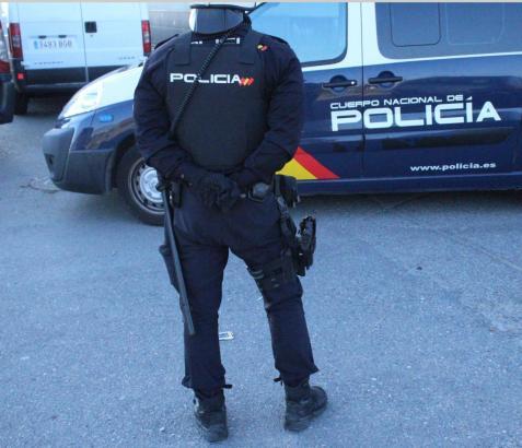 Nationalpolizist im Einsatz.