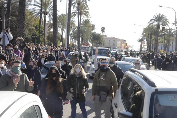 Anti-Armengol-Protestler auf Mallorca.
