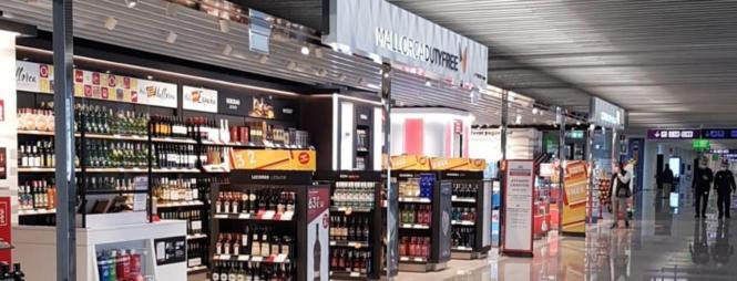 Duty-Free-Shop im Flughafen von Mallorca.