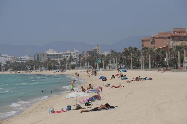 Die Playa de Palma im Sommer 2020.