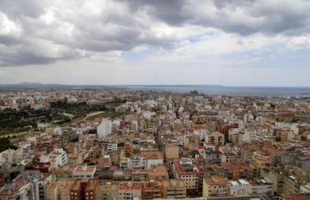 Luftbild von Palma de Mallorca.