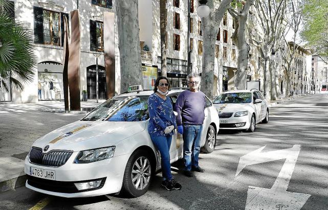 In Palma gibt es drei verschiedene Taxiunternehmen.
