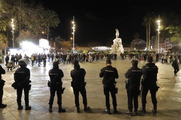 Die Kundgebung fand auf der Plaça d'Espanya in Palma statt.