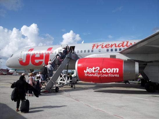 Flugzeug der britischen Airline Jet2.
