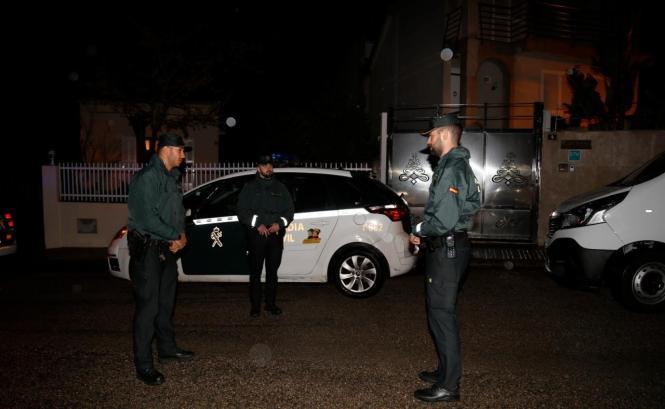 Beamte der Guardia Civil im Einsatz auf Mallorca.