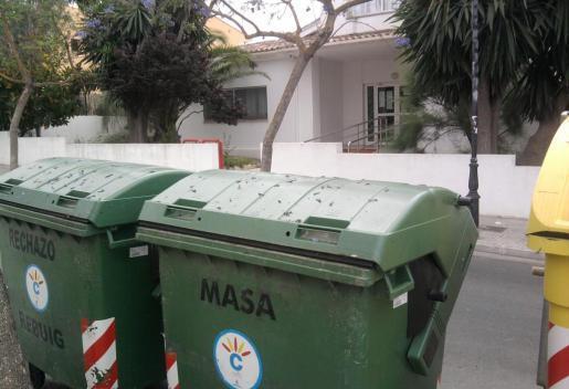 Müllcontainer auf Mallorca.