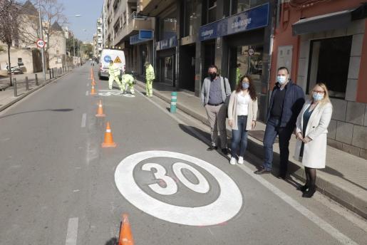In der Inselhauptstadt wurden am Freitag die ersten 30er Zonen eingeweiht.