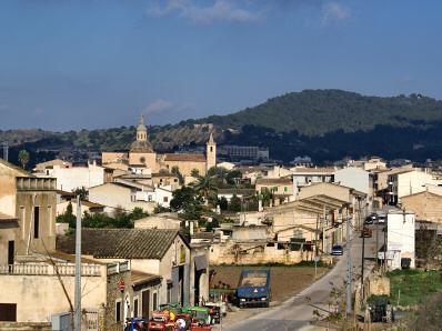 Blick auf Vilafranca de Bonany.