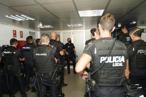 Die Beamten von Lokalpolizei, Nationalpolizei und Guardia Civil werden in besonders großer Zahl ausrücken