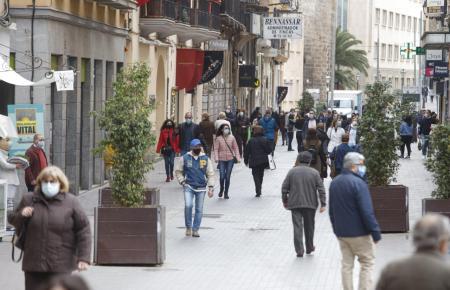Passanten in Palma.