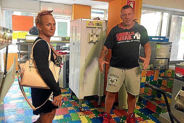 Das Bodybuilderpaar Andreas und Caro Robens.