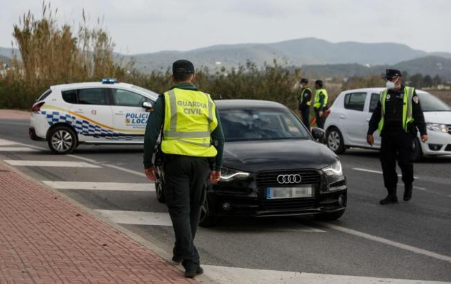 Fahrzeugkontrolle auf Mallorca.