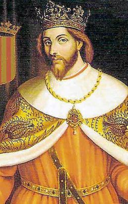 Jaime I. auf einen Porträt im Rathaus von Palma.