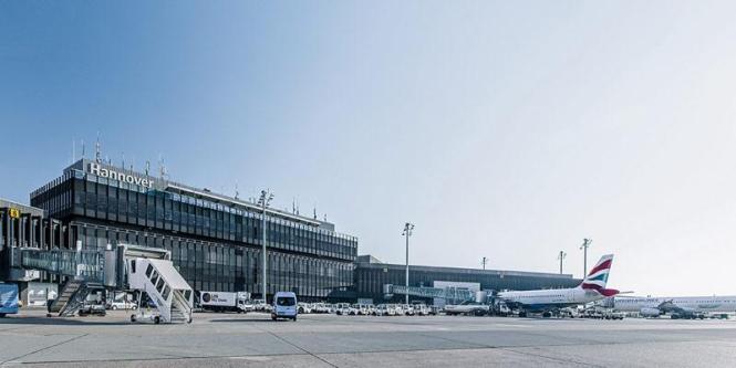 So sieht der Flughafen von Hannover aus.