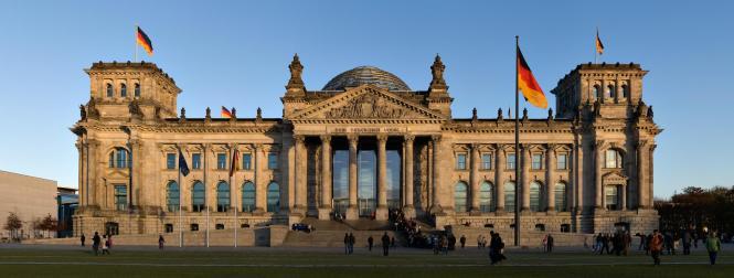Blick auf das deutsche Parlament.