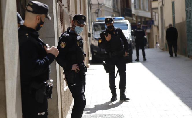 Nationalpolizisten im Einsatz auf Mallorca.