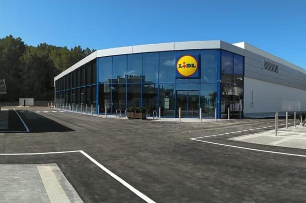 Die neue Lidl-Filiale in Peguera kurz vor der Eröffnung.