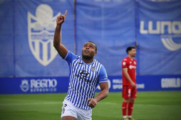 Vinícius Tanque machte gegen Getafe B schon früh das 1:0 für Atlético Baleares.