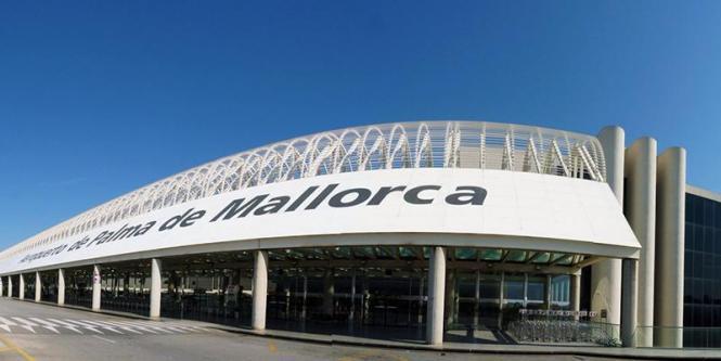 Blick auf den Flughafen Mallorca.