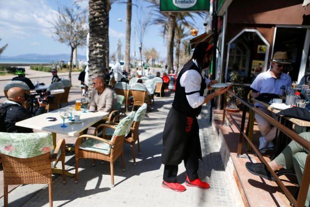Restaurantterrasse auf Mallorca.