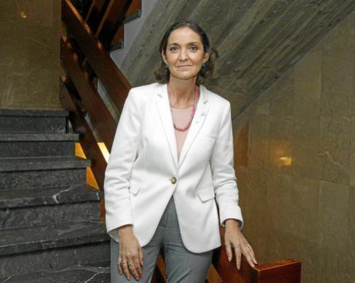 Die spanische Tourismusministerin María Reyes Maroto bei einem Arbeitsbesuch in Palma, wo sie mit Vertretern der Hotelbranche, Arbeitgebern und Gewerkschaften zusammenkam.