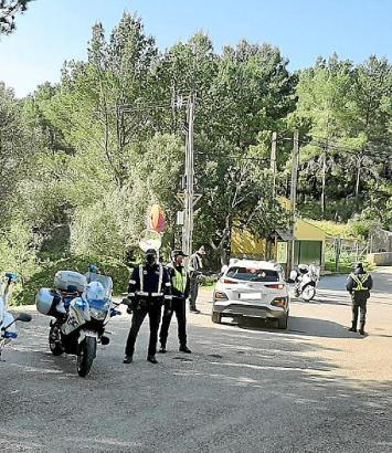 Die Polizei löste eine illegale Geburtstagsparty in Son Font auf.