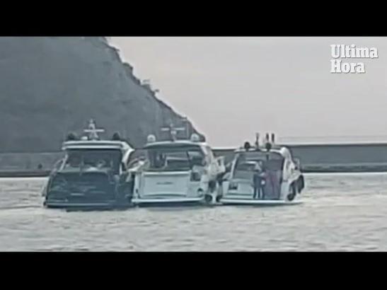 Insgesamt 16 Personen sollen auf den Booten in Port d'Andratx gefeiert haben.