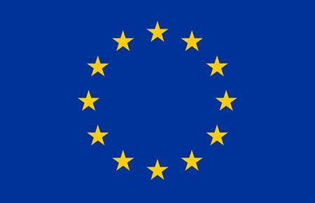 Die EU-Fahne.
