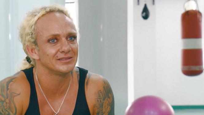 Bodybuilderin Caro Robens.