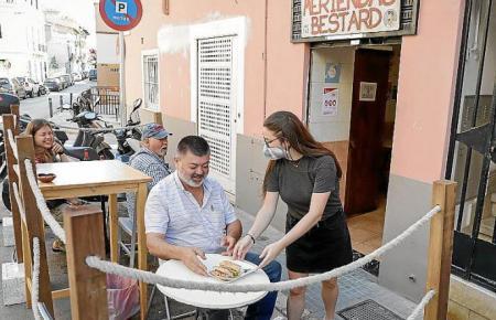 Restaurantterrasse in Palma de Mallorca.