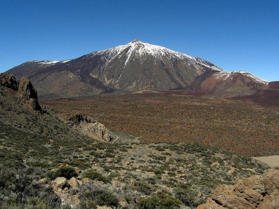 Der Vulkan Teide auf Tenerife, der höchste Berg Spaniens.