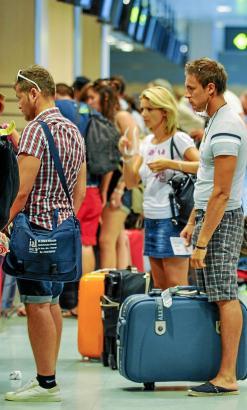 Ausländische Touristen auf Mallorca.