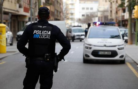 Lokalpolizist im Einsatz auf Mallorca.